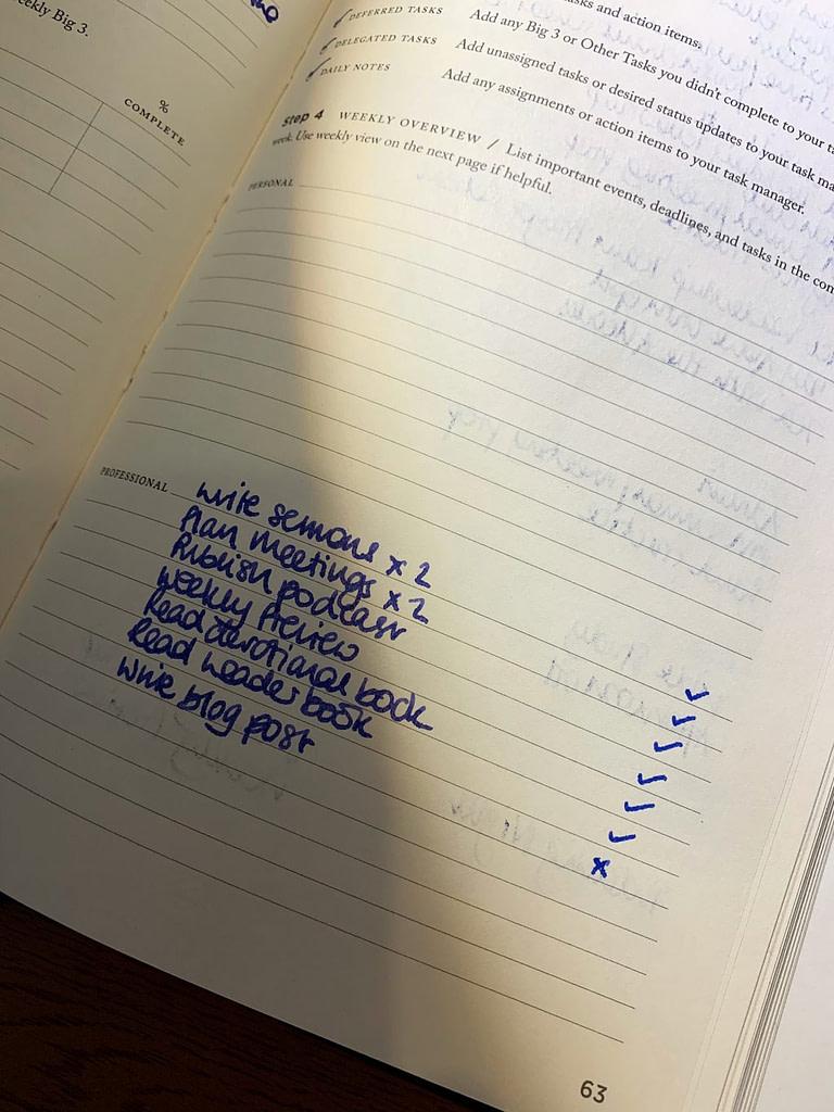 a pastor's schedule